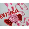 Triple Hearts Applique Font