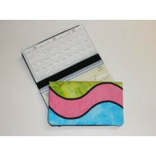 Pieced Wave Checkbook Cover