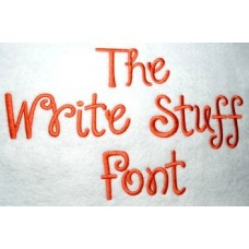 Write Stuff Embroidery Font