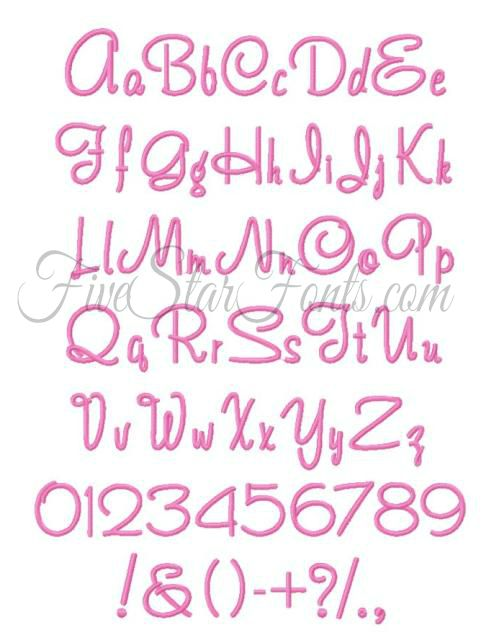 As Always Our Fonts Are Manually Digitized To Ensure A Beautiful Stitch Out I Love The Bold And Cute Style Of These Letters