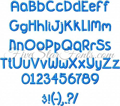 Here Is An Example Of Girl And Boy Names So You Can Get Idea How Nice Versatile The Font