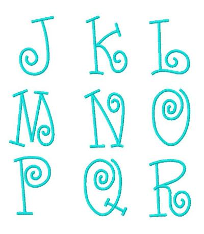 not too girly whirly monogram font 58