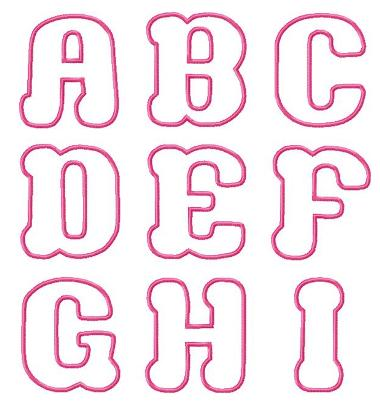 Here Are All Of The Bubble Super Cute Design Files Included In Package Another Applique Font