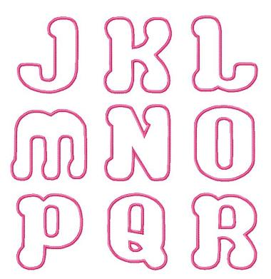 Bubble Love Applique Font