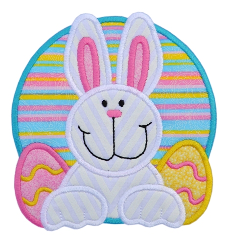 Easter bunny eggs applique for 7x12 kitchen ideas