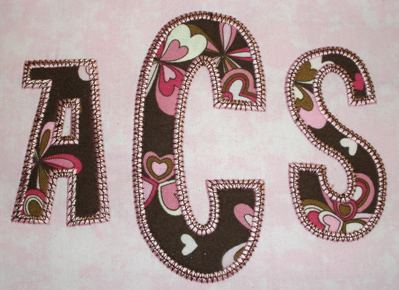 Stacked sans zig zag applique monogram font the itch stitch