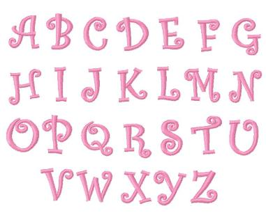 Girly Alphabet Fonts The gallery for -->...