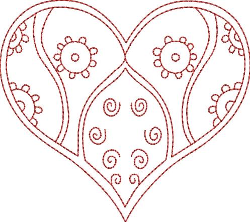 Double Heart Bargello Quilt Pattern Quilts Patterns