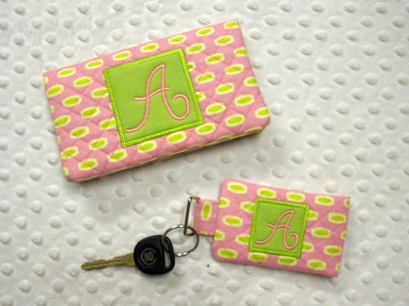 Quilted Monogram Pocket Key Chain