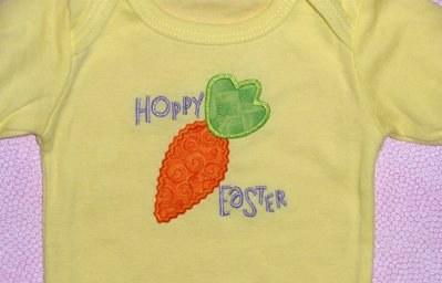 Hoppy easter applique ric rac fun
