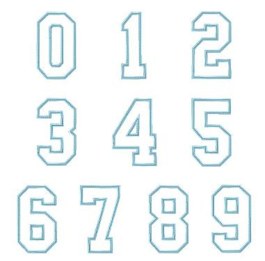 Sports Number Font Another sports applique font