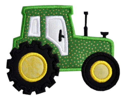 Embroidery Of Tractors : Tractor applique