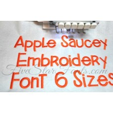Apple Saucey Embroidery Font