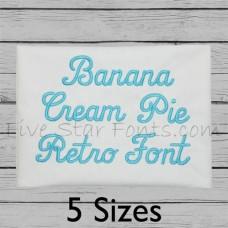 Banana Cream Pie Embroidery Font