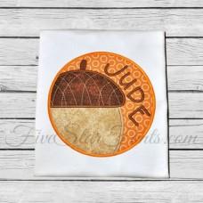 Acorn Circle Patch Applique