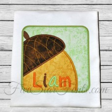 Acorn Square Patch Applique