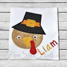 Boy Pilgrim Turkey Applique