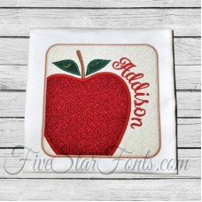 Apple Square Patch Applique