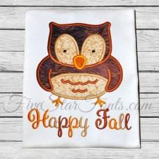 Fall Owl Applique