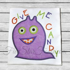Give Me Candy Monster Applique