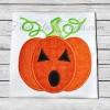Swirly Jack-o-lantern Applique
