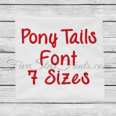 Pony Tails Embroidery Font