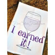 I Earned It Sketch Wine Glass + Bonus Vintage Designs