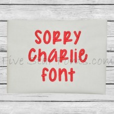 Sorry Charlie Embroidery Font
