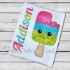 Sweet 3 Color Popsicle Ice Cream Applique