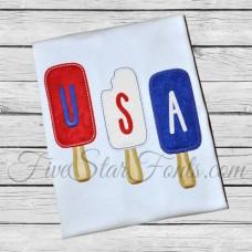 USA Popsicle Patriotic Applique