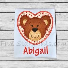 Bear Heart Applique