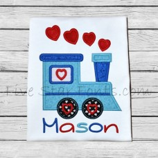 Valentine Love Train Applique