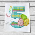 Easter Egg Applique Numbers