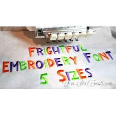 Frightful Embroidery Font
