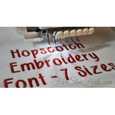 Hopscotch Embroidery Font