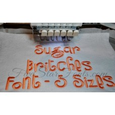 Sugar Britches Embroidery Font