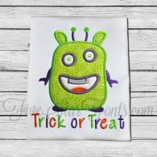 Halloween Monster Applique Trick or Treat