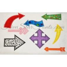 Applique Arrows 8 Different Designs Bundle Priced