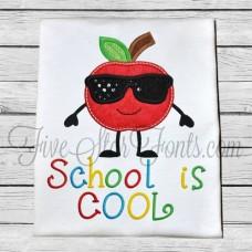 Apple Cutie in Sunglasses Applique