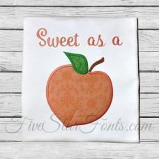 Peach Applique