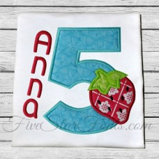Strawberry Applique Numbers