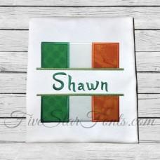 Split Irish Flag Applique