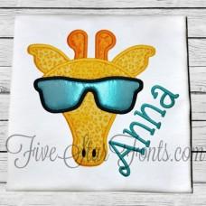 Cool Hipster Giraffe in Sunglasses Applique