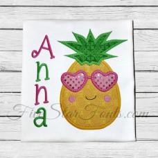 Cool Pineapple in Sunglasses Applique