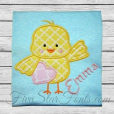 Heart Chick Applique