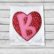 Heart Applique Font