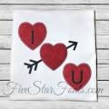 I Heart You Valentine Applique