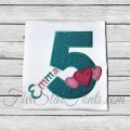 Triple Hearts Applique Birthday Numbers