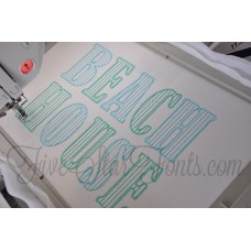 Mr. Stripey Pinstripe Quick Stitch Font Applique Font
