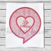 Talking Heart Bubble Applique Design